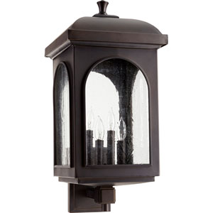 Fuller Oiled Bronze Four-Light 11-Inch Outdoor Wall Mount