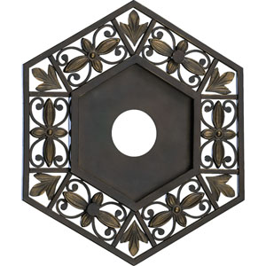Marcela Small Oiled Bronze Ceiling Medallion