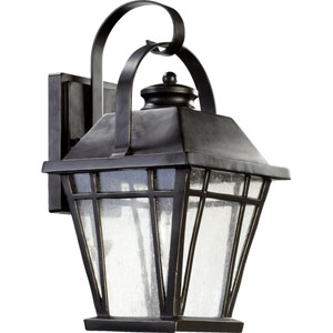 Baxter Old World One Light Outdoor Wall Lantern with Clear Seeded Glass