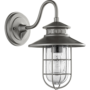 Moriarty Graphite One-Light 8-Inch Outdoor Wall Sconce