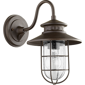 Moriarty Oiled Bronze One-Light 8-Inch Outdoor Wall Sconce