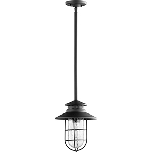 Moriarty Black One-Light 9.5-Inch Outdoor Pendant