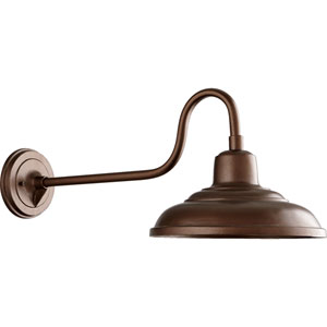 Oiled Bronze 12-Inch One-Light Outdoor Gooseneck Wall Sconce