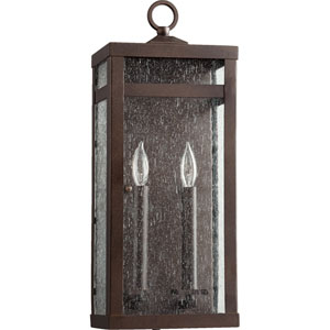 Clermont Oiled Bronze Two-Light Outdoor Wall Mount