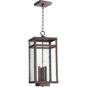 Clermont Oiled Bronze 9-Inch Four-Light Outdoor Pendant