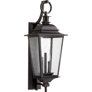 Pavilion Black Three-Light 12-Inch Outdoor Wall Mount