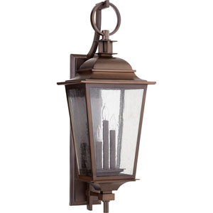 Pavilion Oiled Bronze Three-Light 12-Inch Outdoor Wall Mount