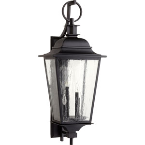 Pavilion Black Four-Light 14-Inch Outdoor Wall Mount