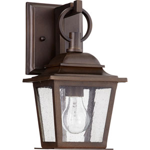 Pavilion Oiled Bronze One-Light 7-Inch Outdoor Wall Mount