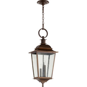 Pavilion Oiled Bronze Three-Light 12-Inch Outdoor Pendant