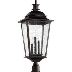 Pavilion Noir Three-Light 12-Inch Outdoor Post Light