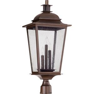 Pavilion Oiled Bronze Three-Light 12-Inch Outdoor Post Light