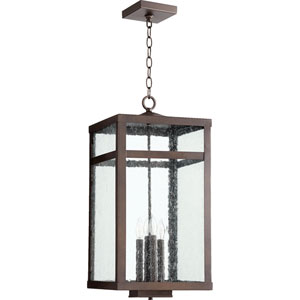 Clermont Oiled Bronze 12-Inch Four-Light Outdoor Pendant