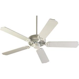 Capri Studio White 42-Inch Five Blade Ceiling Fan