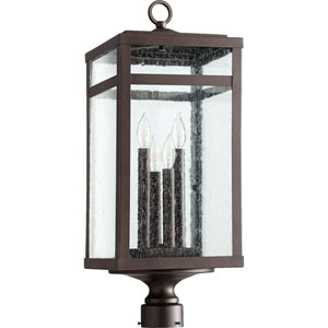 Clermont Oiled Bronze Four-Light Outdoor Post Light