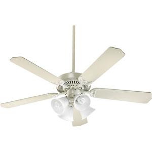 Capri V Antique White Four Light 52-Inch Without Blades Ceiling Fan