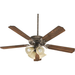 Capri V Mystic Silver Four Light 52-Inch Without Blade Ceiling Fan