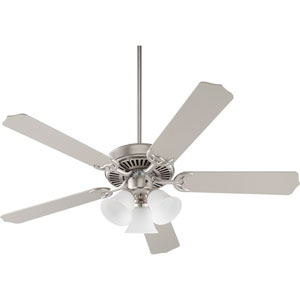 Capri VI Satin Nickel Three-Light 52-Inch Ceiling Fan