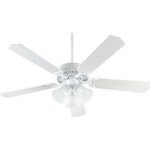 Capri Three-Light White 52-Inch Ceiling Fan