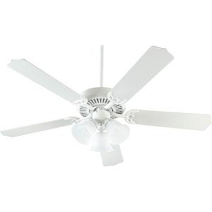 Capri Three-Light Studio White 52-Inch Ceiling Fan