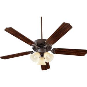 Capri Vi Oiled Bronze Three Light 52-Inch Five Blade Ceiling Fan
