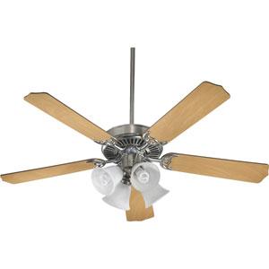 Capri Four-Light Satin Nickel 52-Inch Ceiling Fan