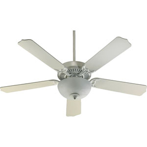 Capri Two-Light Studio White 52-Inch Ceiling Fan