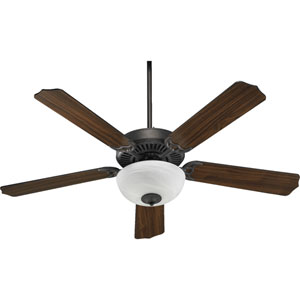 Capri Two-Light Toasted Sienna 52-Inch Ceiling Fan