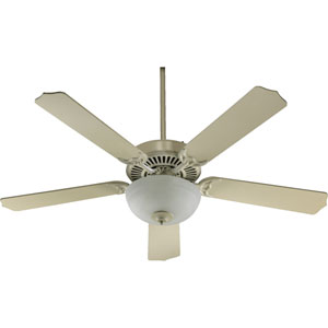 Capri Two-Light Antique White 52-Inch Ceiling Fan