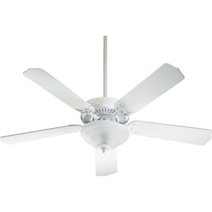 Capri Two-Light White 52-Inch Ceiling Fan