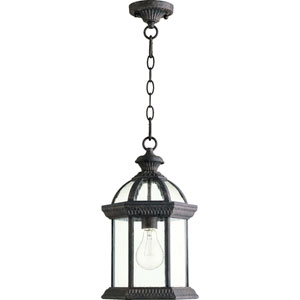 Stelton Baltic Granite One Light Outdoor Hanging Lantern with Clear Glass