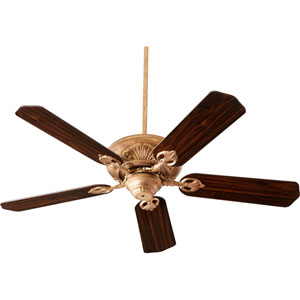 Chateaux Vintage Gold Leaf 52-Inch Ceiling Fan
