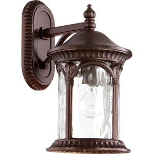 Riviera Oiled Bronze 8.5-Inch One-Light Outdoor Wall Mount