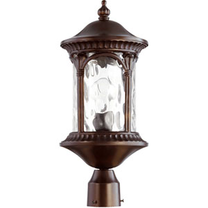 Riviera Oiled Bronze 8.5-Inch One-Light Outdoor Post Mount