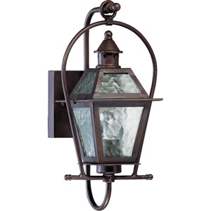 French Quarter One-Light Oiled Bronze with Antique Gold Outdoor Wall Light