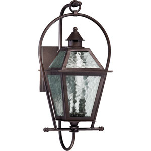 French Quarter Two-Light Oiled Bronze with Antique Gold Outdoor Wall Light