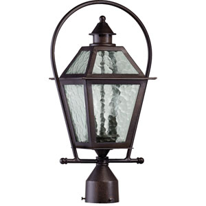 French Quarter Two-Light Oiled Bronze with Antique Gold Outdoor Post Light