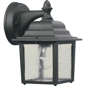 Black One-Light Outdoor Wall Mount