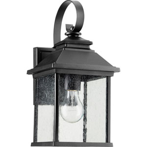 Pearson Black One-Light 7-Inch Outdoor Wall Mount