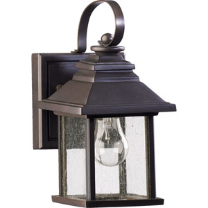Pearson One-Light Oiled Bronze with Antique Gold Outdoor Wall Light