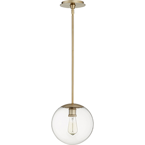 Aged Brass One-Light 10-Inch Pendant