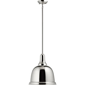 Polished Nickel One-Light 19-Inch Pendant