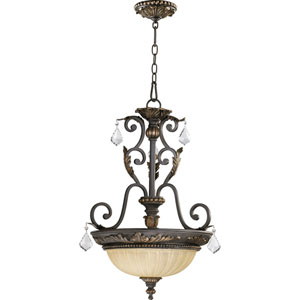 Rio Salado Three-Light Toasted Sienna with Mystic Silver Pendant