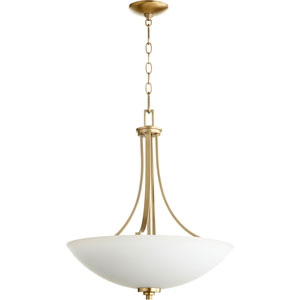 Reyes Aged Brass Four-Light 20-Inch Pendant