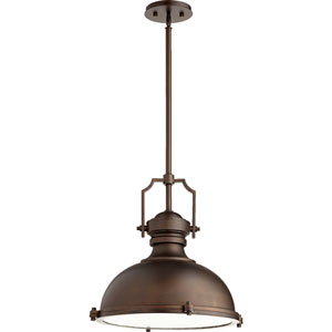 Hinge Oiled Bronze 20-Inch Three-Light Pendant
