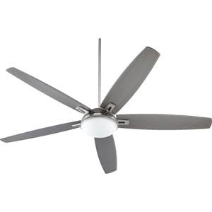 Vector Satin Nickel Two-Light 72-Inch Ceiling Fan