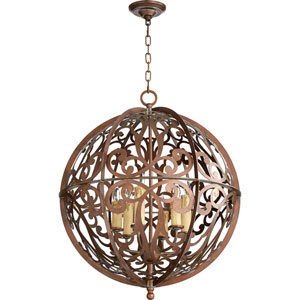 Montgomery Vintage Copper Six-Light Pendant