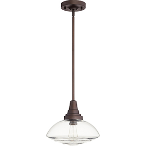 Oiled Bronze One-Light 13-Inch Pendant
