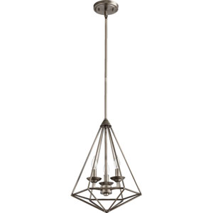 Bennett Antique Silver Three-Light Pendant