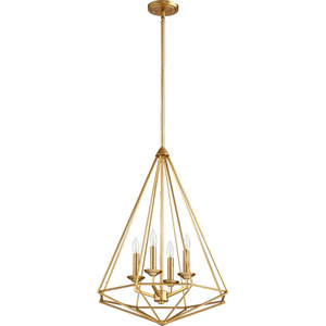 Bennett Aged Brass Four-Light Pendant